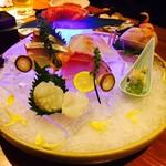 門 - 鮮魚の刺身盛合せ・二人前(¥1,900)