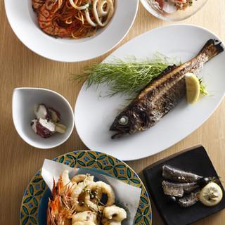 魚介と野菜にこだわったお料理。