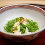 62108035 - 焼き餅と伊勢海老 菜の花