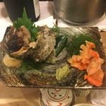 寿司辰 - サザエ、赤貝