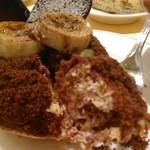 COVA - [料理] チョコ & バナナのタルト 切り口のアップ♪w
