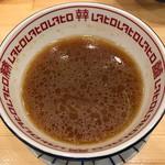 62143411 - 最後はスープ割で〆 ※濃さは普通で