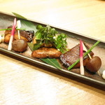 赤坂あじさい - 焼き物 メダイの照り焼き 山形県産ジャンボマッシュルーム