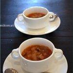 ミクマリ - 季節野菜(聖護院大根、白菜)のプロヴァンス風スープ