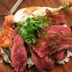 ユン - 料理写真:・「国産牛ステーキ丼(\980)」