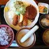 レストラン キヤ - 料理写真:2017年1月 カキフライ&ハンバーグ定食 1320円+税