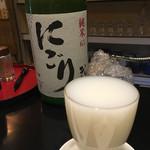 夜行列車 - 花垣 純米にごり酒(700円)