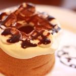 カフェ トレカサ - チョコバナナシフォンケーキ