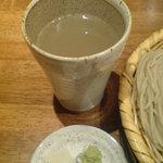ぼっち - そば焼酎の蕎麦湯割り