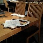 焼肉居酒屋 マルウシミート - テーブル。