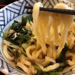 自家製おうどん 三拍子 - モチモチ麺♡
