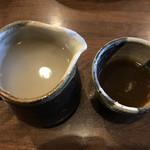 蕎麦がき屋 - そば湯