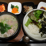 KOREAN DINING 長寿韓酒房 - 荏胡麻参鶏湯セット