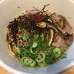 麺屋M - 限定・煮干混ぜそば 追い飯付き(850円)