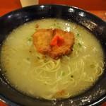 鳥料理 有明 - 軍鶏水炊きらーめん\700(17-02)