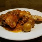 ビストロ・スリージェ - 京都産若鶏骨付きモモ肉のロースト ビネガーソース