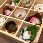 あなごと日本酒 なかむら - 1702 あなごと日本酒 なかむら あなご造り盛り@1,280円(湯引き、なめろう、造り)