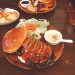 62312380 - イタリアンクリームチーズバーガー(Lunch Set750円内)【平成29年2月7日撮影】