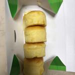 62316612 - コーンパンが縦に敷き詰められた様子はまさにとうもろこしそのもの♪