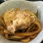 五右衛門 - 麺に卵オン