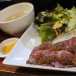 焼串にくらぼ - ローストビーフランチ880円