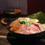 麺者すぐれ - 料理写真:2017年2月再訪:つけ麺すぐれ 3種の肉+塩味玉 1.5倍盛り☆
