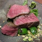セキ ハナレ - 黒毛和牛イチボのステーキ