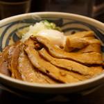 つけめん 豆天狗 - 肉盛り油そば 1,050円