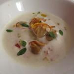 ペペロッソ - 沖シジミ 米や貝の出汁の冷製スープ