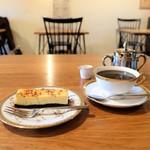深煎自家焙煎珈琲 星霜珈琲店 - ブレンド♯5 の レギュラー22g、チーズケーキ、