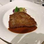 銀座スカイラウンジ - 牛ロースのパン粉焼き