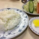 はと屋 - ご飯と漬物(2017.02)