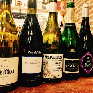 国産&世界各国の自然派ワイン【現在13種グラスでご用意】