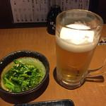 魚と酒 はなたれ - 菜の花の柚子胡椒和え