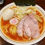 62401590 - 「辛ニボ味噌ラーメン(800円)+煮玉子(100円)」です