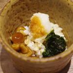 蕎ノ字 - 蕎麦の実、なめこ、生海苔