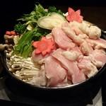 62444313 - 名物ふわふわ鶏つくね付 熟成鶏の贅沢すき焼き鍋