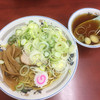 珍々亭 - 料理写真:油そば 並 ねぎ盛り + スープ