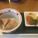 ふじ波 - アンキモ旨煮とお新香