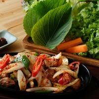 豚肉野菜炒め新鮮野菜付き