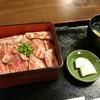 江戸庄 - 料理写真:村上牛 レアステーキ丼(上)