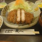 とんかつ 藤よし - 米の娘ぶたロースかつ定食180g(1,680円)