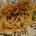 カンティーナ シチリアーナ トゥット イル マーレ - ~シチリア名物パスタ~ イワシとウイキョウのスパゲティ(麺は変更しました)