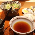 沼田 - キャベツ塩昆布サラダ 天つゆ、塩、レモン