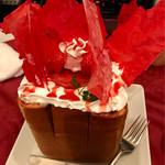 カラオケ パセラ  - 真っ赤な苺のパリパリ!生チョコ仕立て ハニトーファイア 1019円