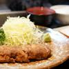 牛かつ もと村 - 料理写真:牛カツ麦飯とろろセット 130g (¥1,400)