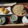 日野宿 ちばい - 料理写真:もり蕎麦(大盛り)+かき揚げ天