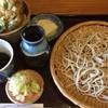 手打そば里居房 - 料理写真:もりそばとミニ天丼セット(1300円)