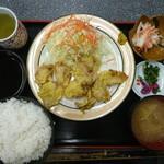 光玉母食堂 - 2017年1月 豚天定食 950円
