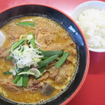 麺屋まる勝かっちゃんラーメン - 料理写真:もつらーめんセット